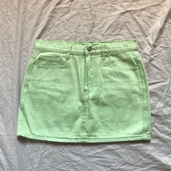 5c5cf1ec35 Brandy Melville Skirts | Lime Green Mini Skirt | Poshmark